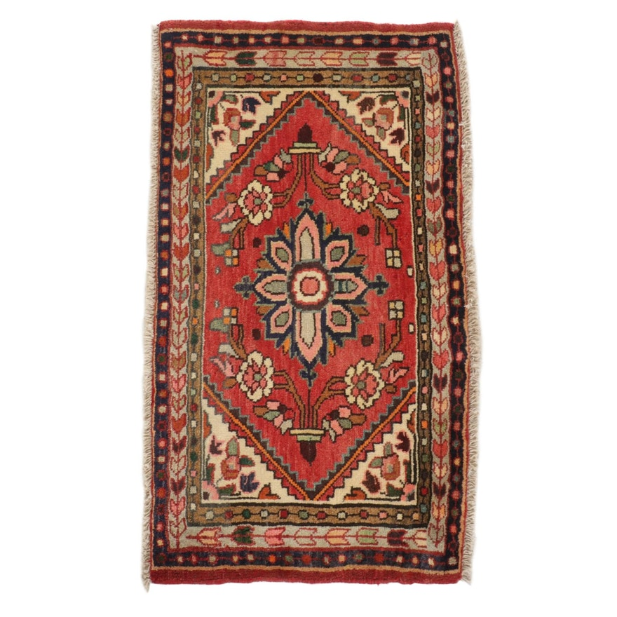 2' x 3'5 Hand-Knotted Persian Malayer Rug, 1980s