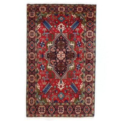 3'3 x 5'4 Hand-Knotted Turkish Village Area Rug