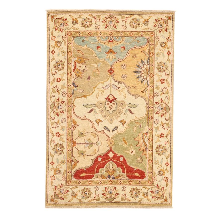 3'9 x 5'9 Hand-Knotted Pakistani Persian Tabriz Rug, 2010s