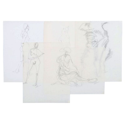 John Tuska Figural Graphite Drawings