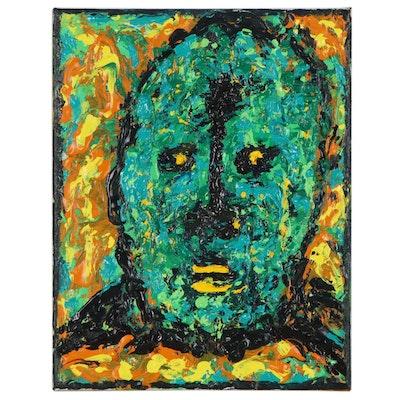 Irwin Wiener Impasto Acrylic Portrait