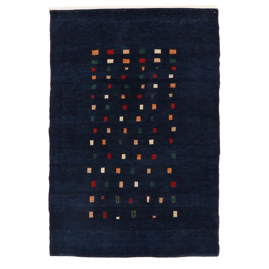 4' x 5'10 Hand-Knotted Persian Gabbeh Rug, 1990s