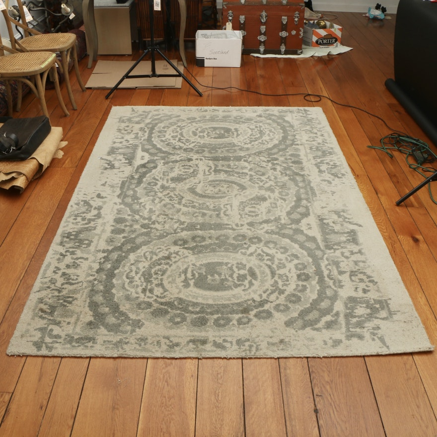 """5' x 8' Hand-Tufted Kaleen """"Bosworth"""" Printed Area Rug"""