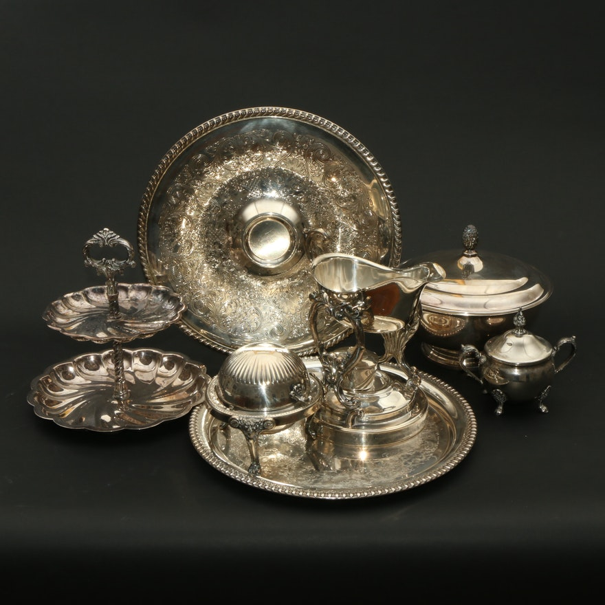 Gorham, Rogers, Webster-Wilcox and Other Silver Plate Serveware