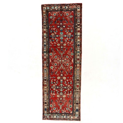 3'8 x 10'9 Hand-Knotted Persian Mehriban Long Rug