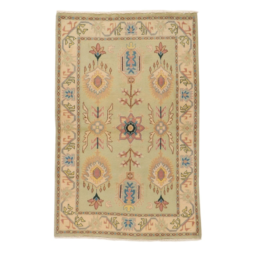 4'2 x 6'7 Hand-Knotted Persian Tabriz Rug, 2000s