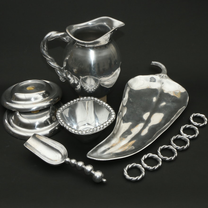 Mariposa And Other Aluminum Tableware, Late 20th to 21st Century