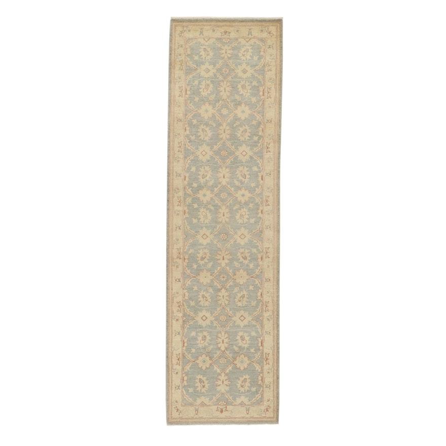 2'9 x 9'9 Hand-Knotted Pakistani Persian Tabriz Carpet Runner, 2010s