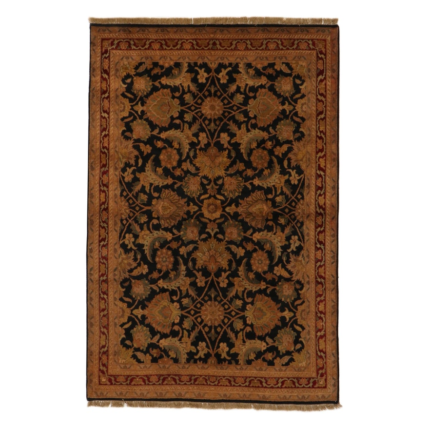 6' x 9'4 Hand-Knotted Indo-Persian Tabriz Rug, 2010s