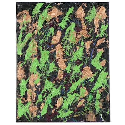Irwin Wiener Abstract Impasto Acrylic Painting