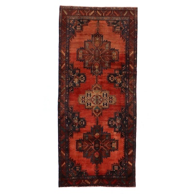 4' x 9'1 Hand-Knotted Northwest Persian Long Rug