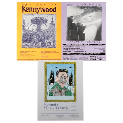 Pittsburgh Art Exhibition Posters after Howard Finster and Bill Sienkiewicz