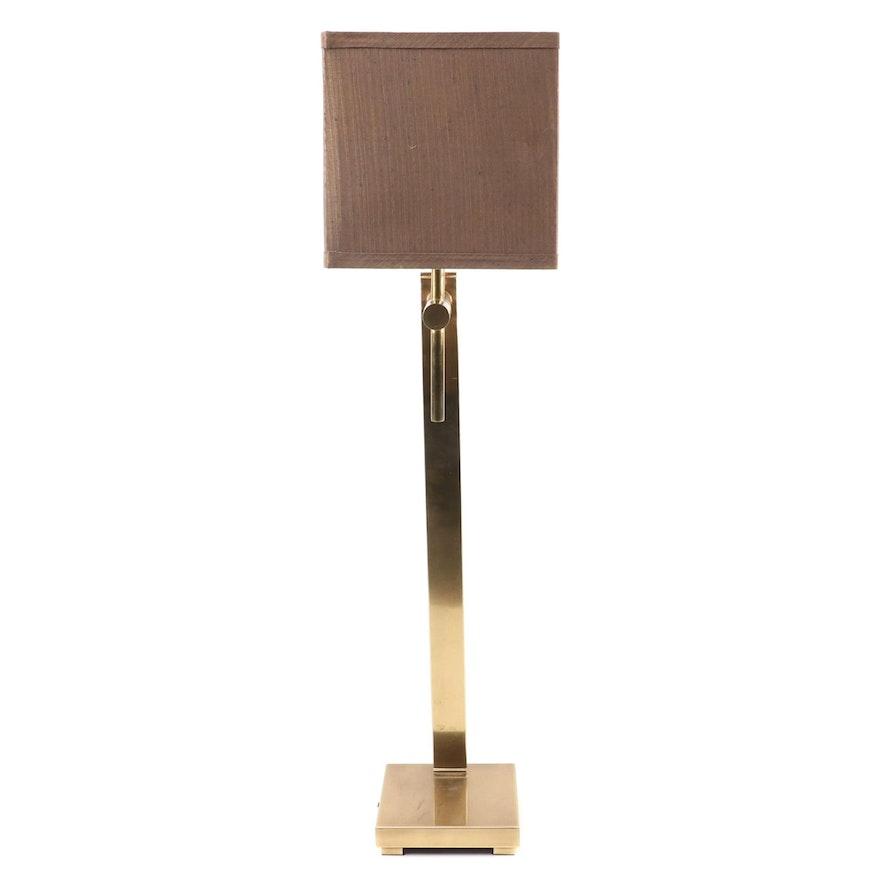 Modernist Style Brass Adjustable Table Lamp