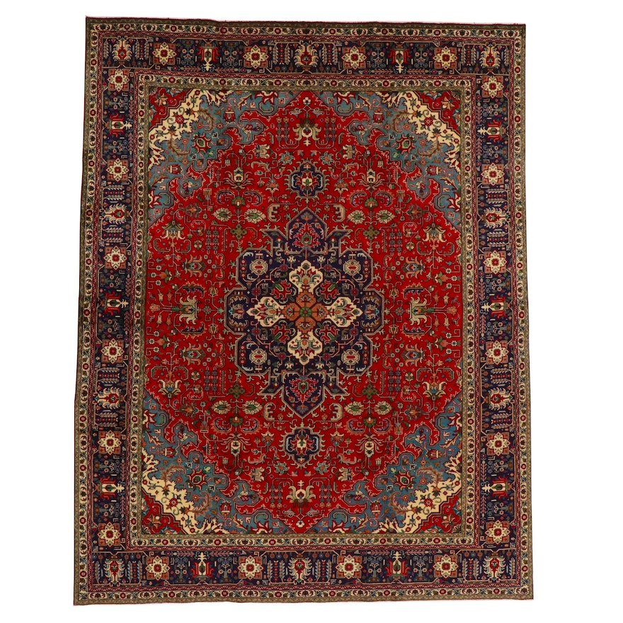 10' x 12'8 Hand-Knotted Indo-Persian Tabriz Room Sized Rug
