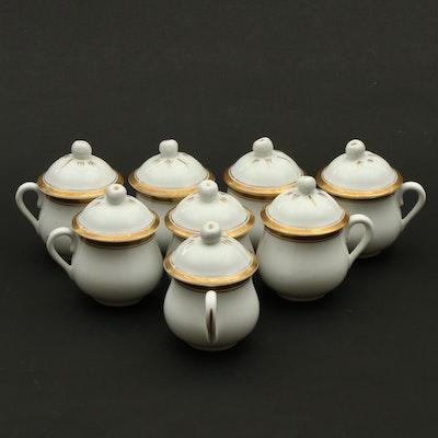 Vista Alegre Portuguese Porcelain Pots de Crème, Mid to Late 20th Century