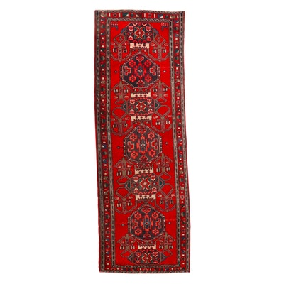 3'6 x 10'3 Hand-Knotted Persian Kurdish Long Rug