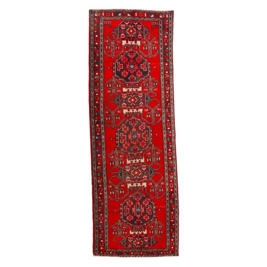 3'6 x 10'3 Hand-Knotted Persian Kurdish Long Rug