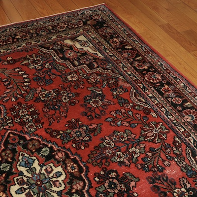 7'10 x 9'10 Hand-Knotted Persian Mehriban Wool Area Rug
