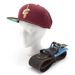 Cleveland Cavalier Wool Snapback Cap with Other Oil-Tanned Leather Tool Belt