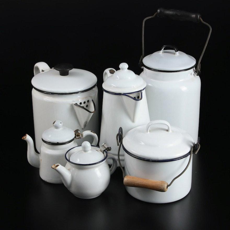 Lalance and Grosjean Mfg. Co. Enameled Serveware and Food Storage
