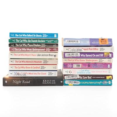 """The Cat Who ..."" Lilian Jackson Braun Mystery Novels, and Kristin Hannah Novels"
