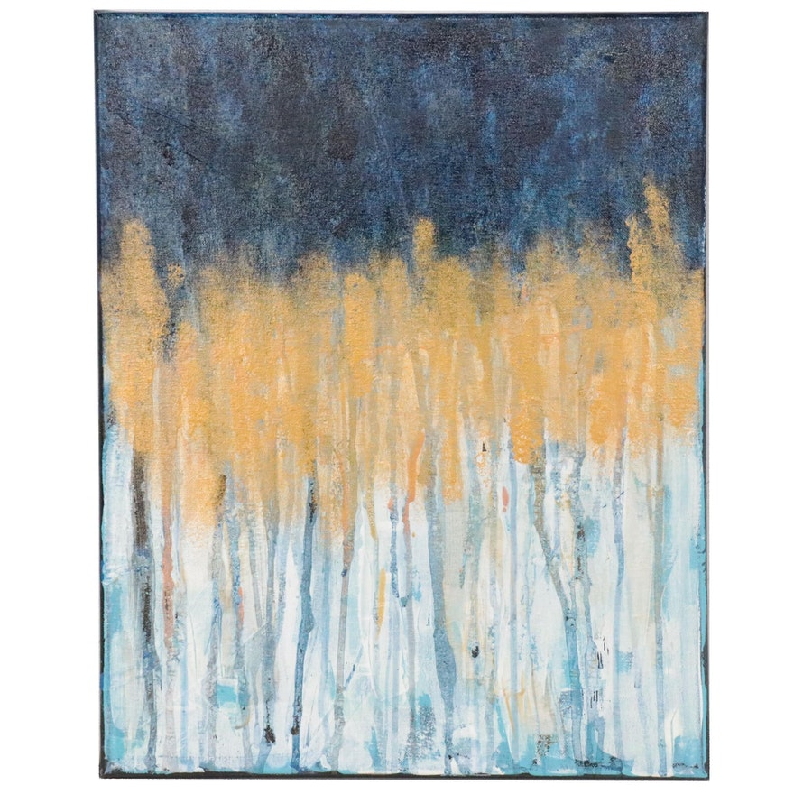 "Karen Warren Abstract Acrylic Painting ""Contemporary Series 2021"""