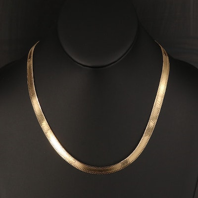 Italian 14K Fancy Link Necklace