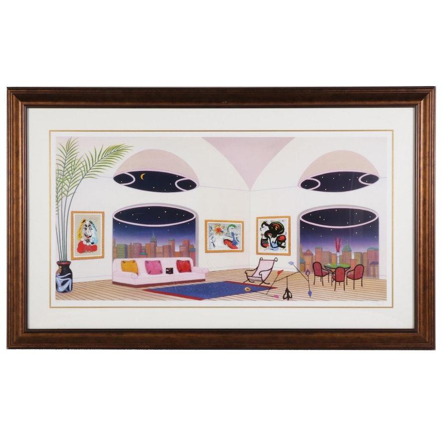 """Fanch Ledan Giclée """"Oval Lounge,"""" 21st Century"""