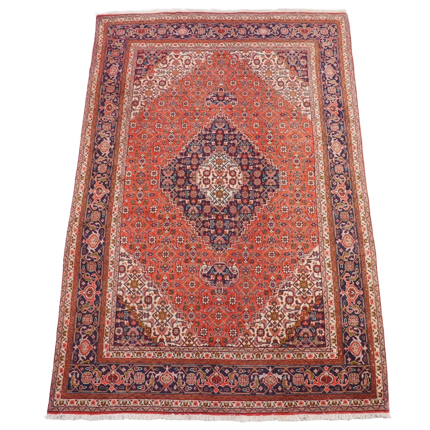 6'8 x 10'2 Hand-Knotted Persian Tabriz Wool Area Rug