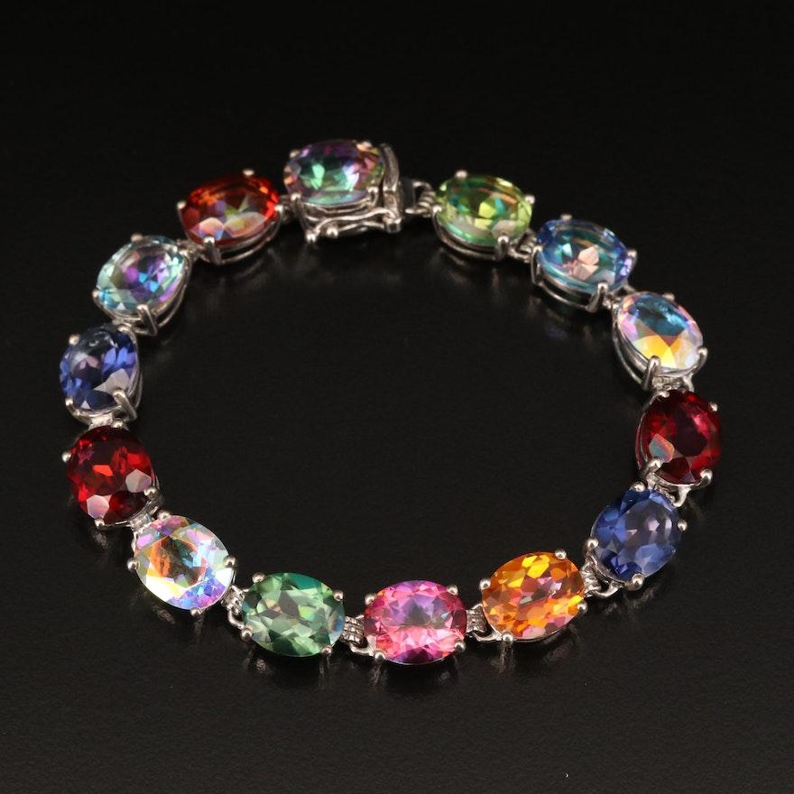 Sterling Mystic Quartz Bracelet