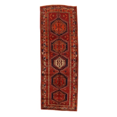 3'10 x 10'10 Hand-Knotted Northwest Persian Long Rug, 1960s