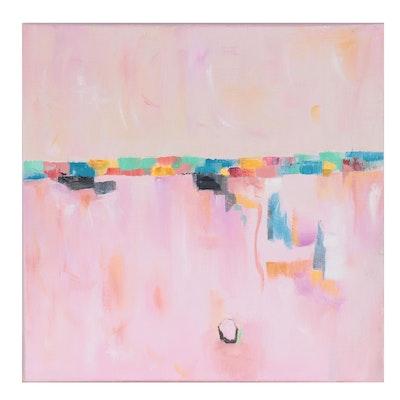 "Suzzanna ""Sanna"" Frank Oil Painting ""Down Below,"" 21st Century"