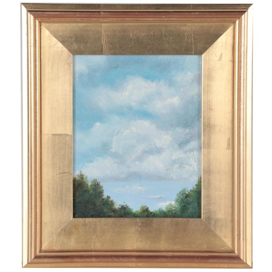 "Sanna Oil Painting ""Cloudy Day,"" 21st Century"