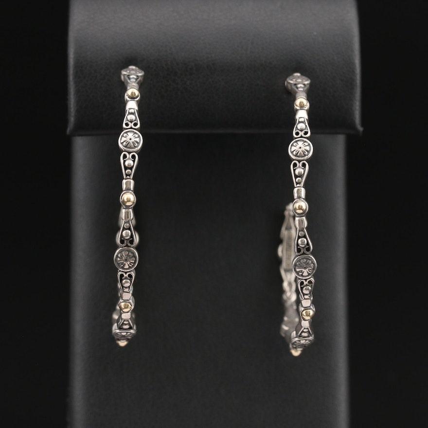 Konstantino Sterling Hoop Earrings with 18K Accents