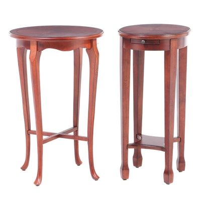 Butler Specialty Co. Federal Style Side Table and Queen Anne Style Side Table