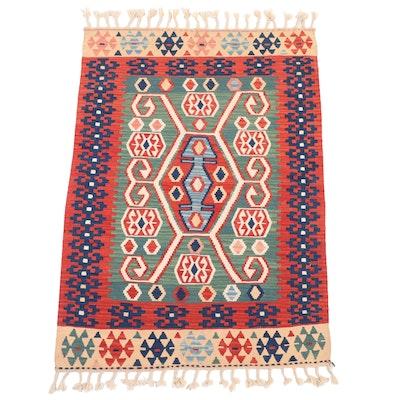3'11 x 6'5 Handwoven Turkish Village Kilim Area Rug