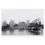 W. Glen Davis Halftone of Pittsburgh Skyline From Riverbank