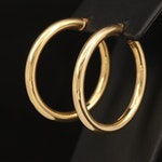 14K Italian Gold Hoop Earrings