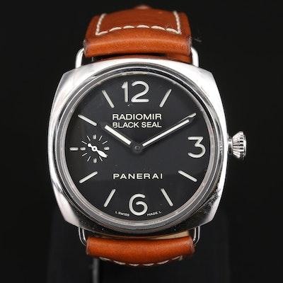 Panerai Radiomir Black Seal PAM183 Stainless Steel Stem Wind Wristwatch