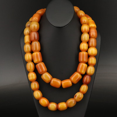 Endless Acrylic Wide Bead Necklace