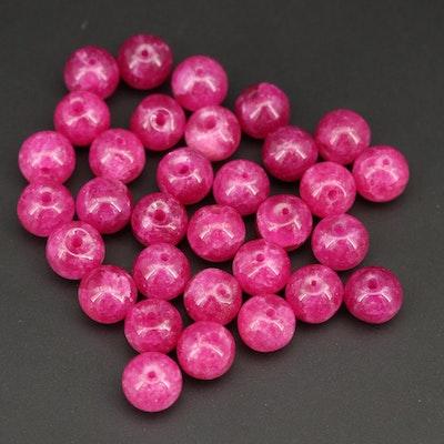 Loose 37.35 CTW Quartz Round Beads