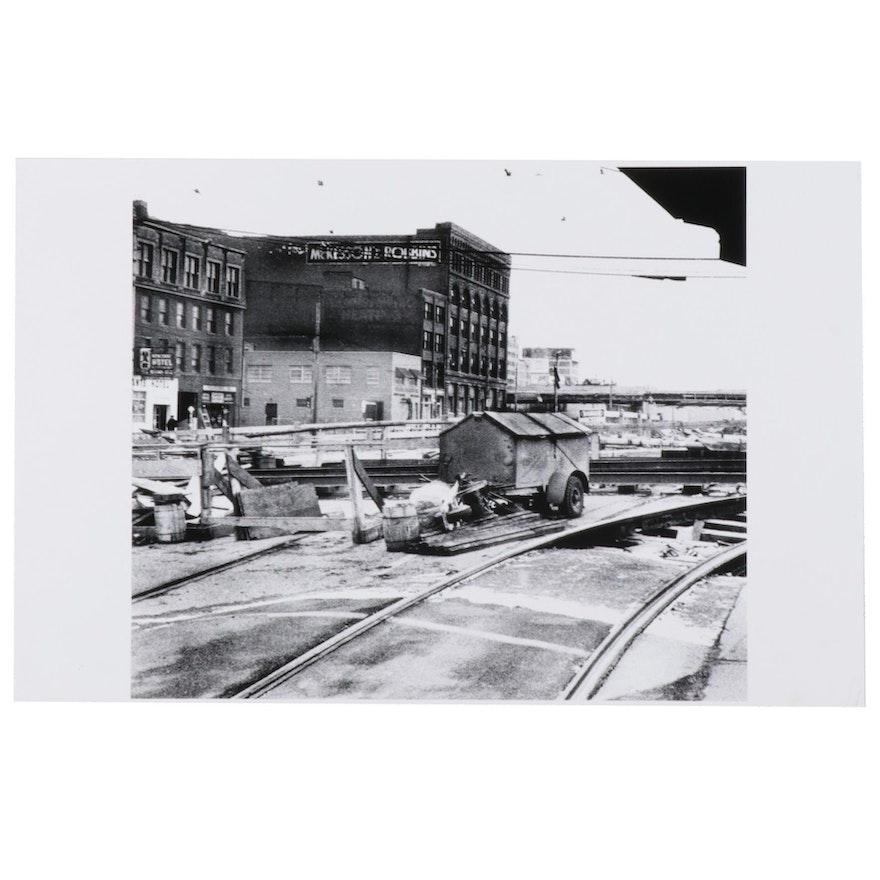 W. Glen Davis Halftone of Pittsburgh Construction Site