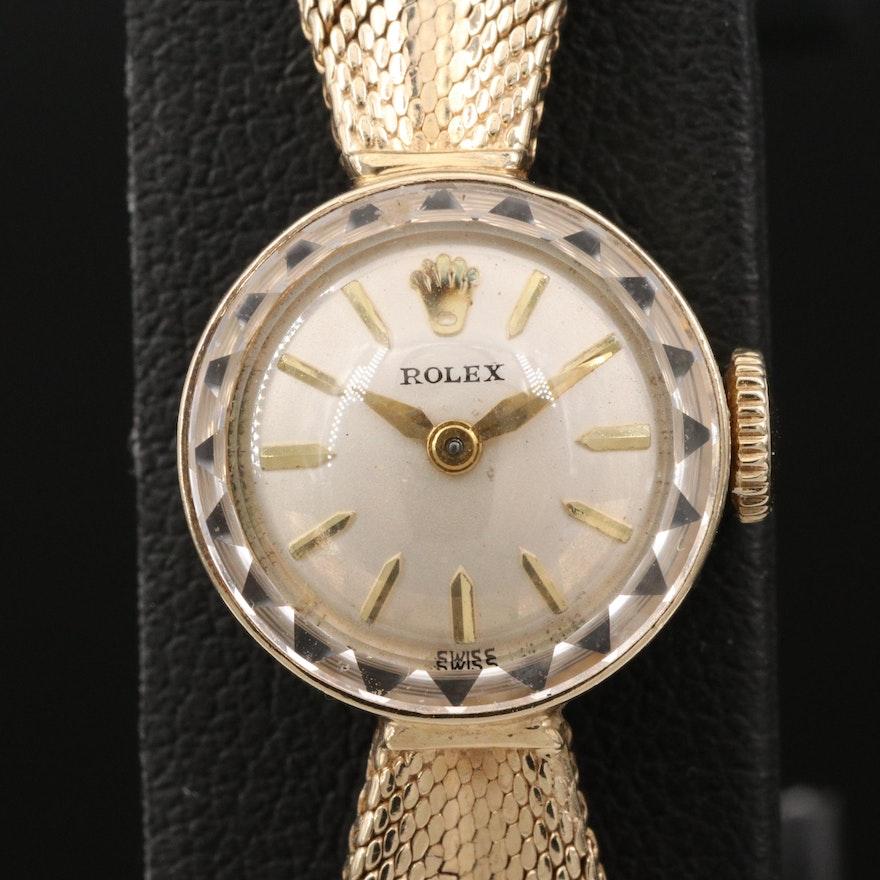Vintage Rolex 14K Stem Wind Wristwatch