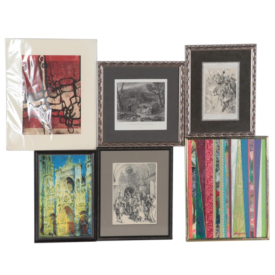 Feizman Mixed Media Painting and Various Prints after Albrecht Dürer and More