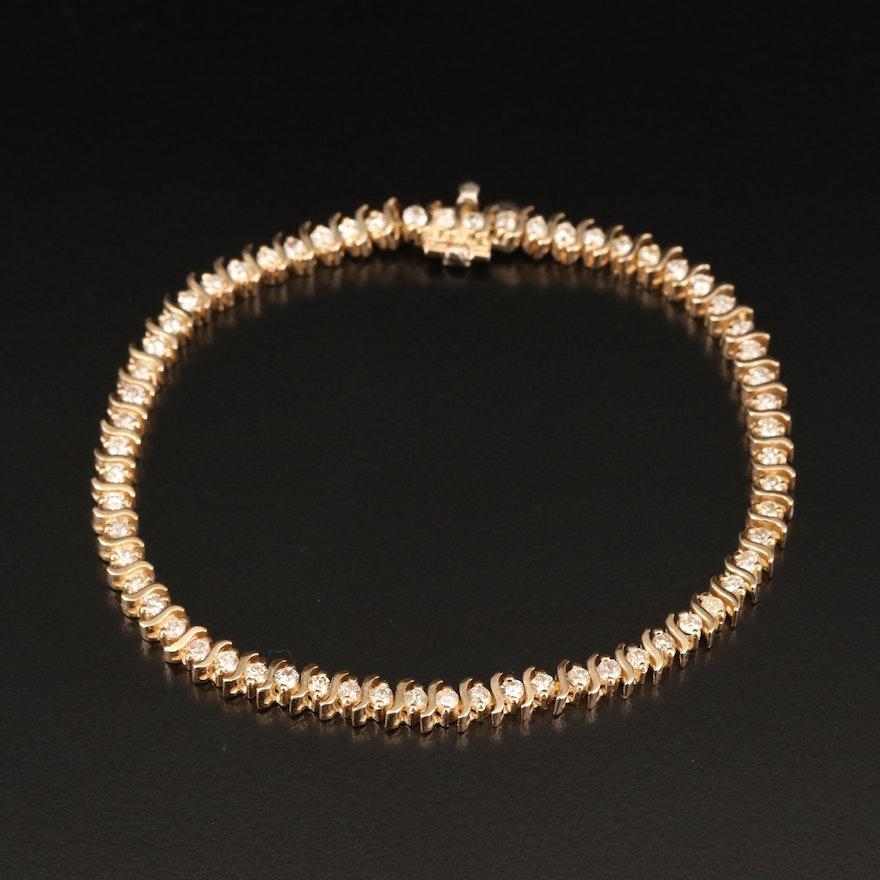 14K 2.01 CTW Diamond Bracelet