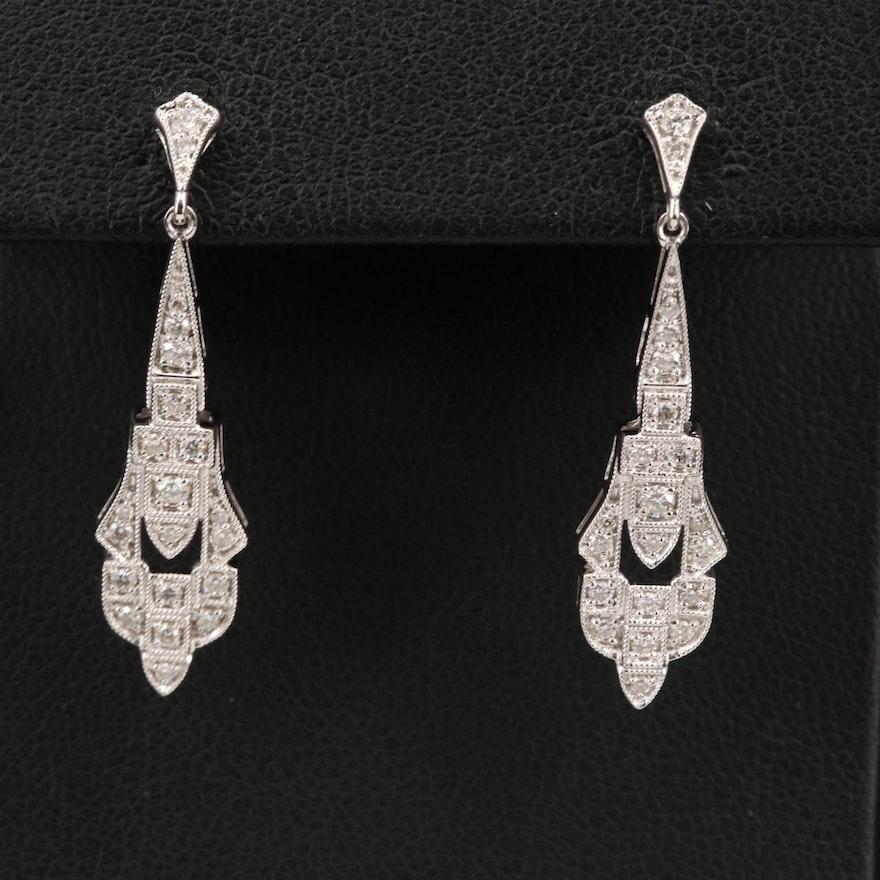 14K Diamond Earrings