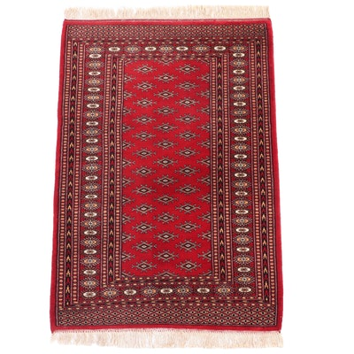 3'3 x 5'3 Hand-Knotted Pakistani Turkmen Wool Area Rug
