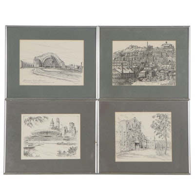 Lithographs after Geneva South and Caroline Williams of Cincinnati