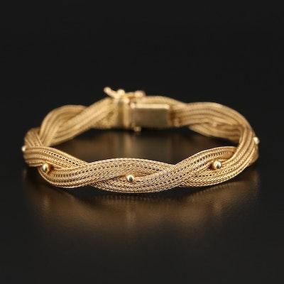 18K Woven Twist Bracelet