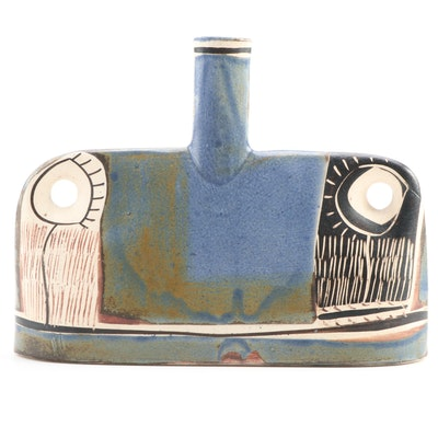 Alfajar Spanish Drip Glazed Earthenware Vase